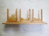 OPercules (détails) - bois et cire d'abeilles, 2010