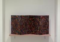Web n°1, huile sur bois, 2010