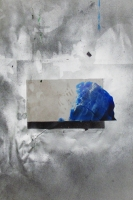 Dérive - Collage et aérosol sur papier