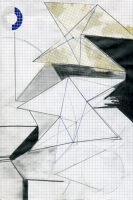 Reflex géométrique - Technique mixte sur papier