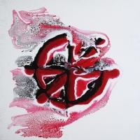 Test N°1 - Acrylique sur toile, 41x41cm, 2011