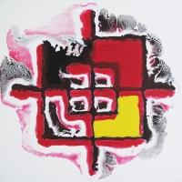 Test n°2 - Acrylique sur toile, 41x41cm, 2011