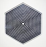 Densité, sérigraphie sur aluminium - polygone de 77 x 85 cm, 2013