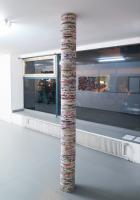 B-Side - 2016 - toiles superposées - Ø 21,5 cm, hauteur 248 cm
