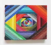 Rétroaction n°12, huile sur toile  - 20 x 25 cm, 2012