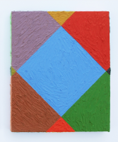 Rétroaction n°28, huile sur toile  - 30 x 25 cm, 2012