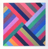 Rétroaction n°34, huile sur toile  - 80 x 80 cm, 2012