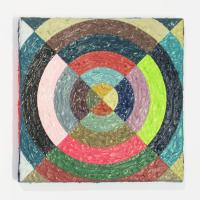Rétroaction n°35, huile sur toile  - 20 x 20 cm, 2012