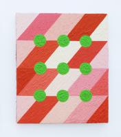 Rétroaction n°45, huile sur toile  - 30 x 25 cm, 2013