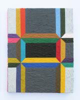 Rétroaction n°46, huile sur toile  - 35,5 x 28,5 cm, 2013