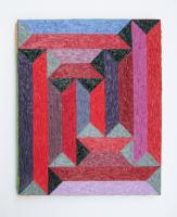Rétroaction n°49, huile sur toile  - 30 x 25 cm, 2013