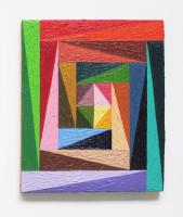 Rétroaction n°6, huile sur toile  - 34 x 29 cm, 2012